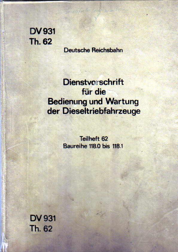 Dienstvorschrift BR 118.0